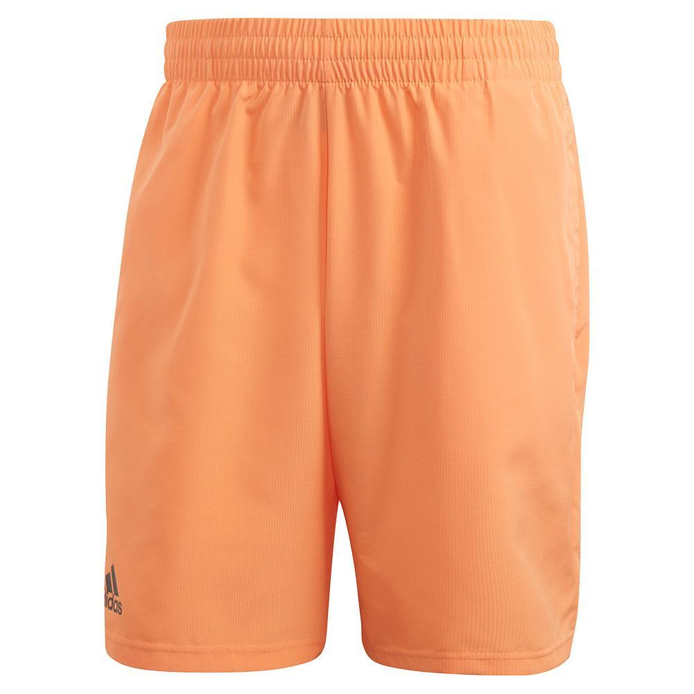 Men's Club 9 Inch Tennis Short Amber Tint And Grey Six