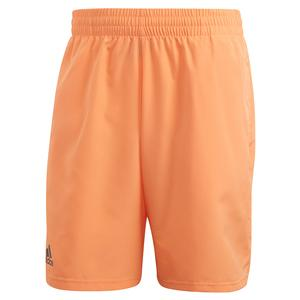 Men`s Club 9 Inch Tennis Short Amber Tint and Grey Six