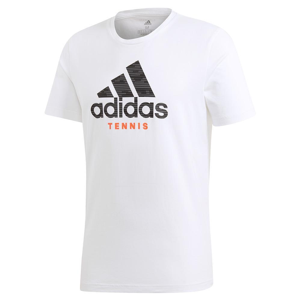 Men's Category Logo Tennis Tee White