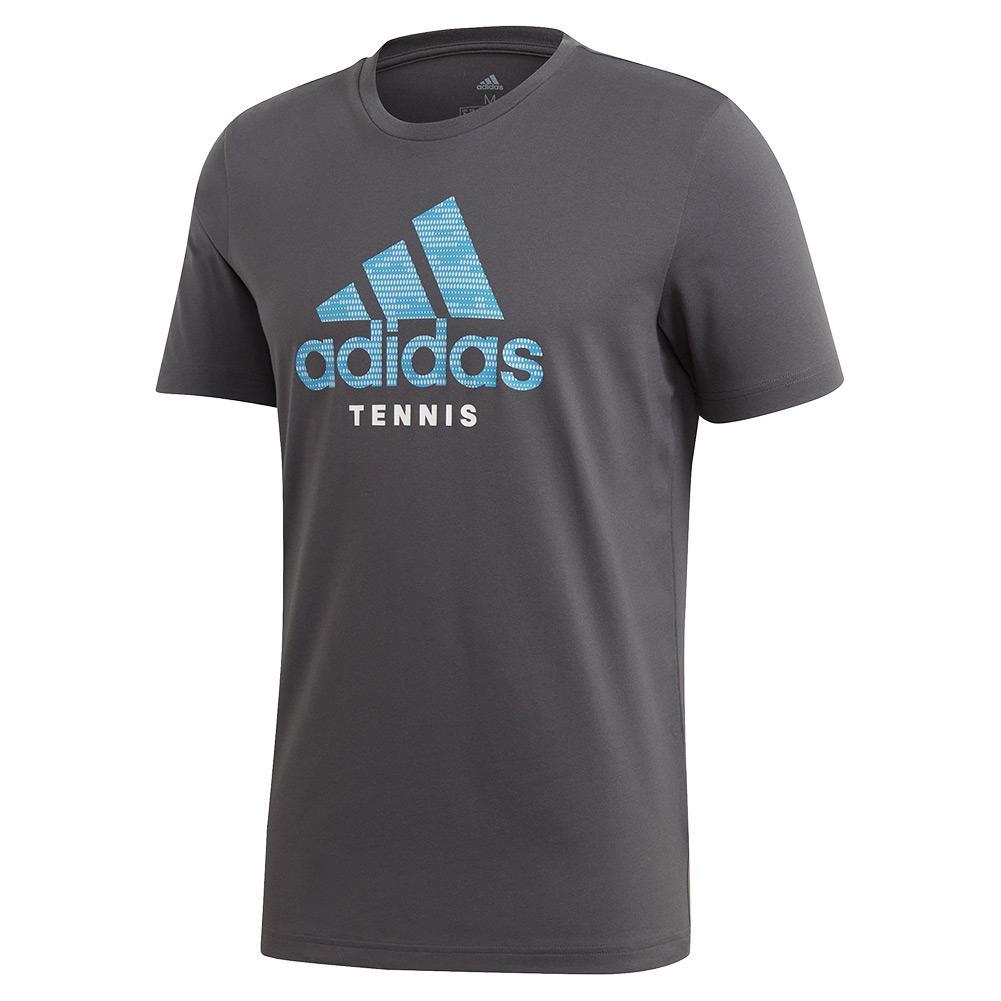 Men's Category Logo Tennis Tee Grey Six