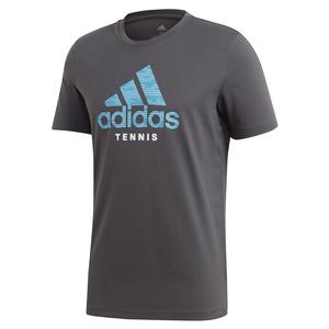 Men`s Category Logo Tennis Tee Grey Six
