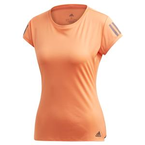 Women`s Club 3 Stripe Tennis Top Amber Tint and Grey Six