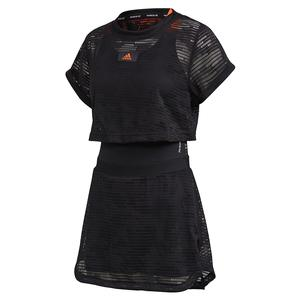 Women`s Primeblue Tennis Dress Black