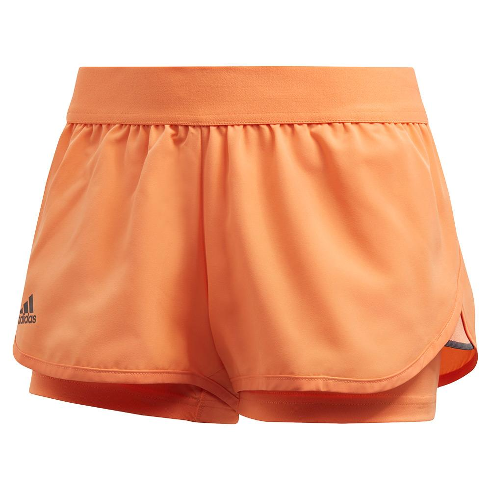 Women's Club 2.5 Inch Tennis Short Amber Tint And Grey Six