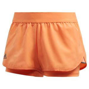 Women`s Club 2.5 Inch Tennis Short Amber Tint and Grey Six