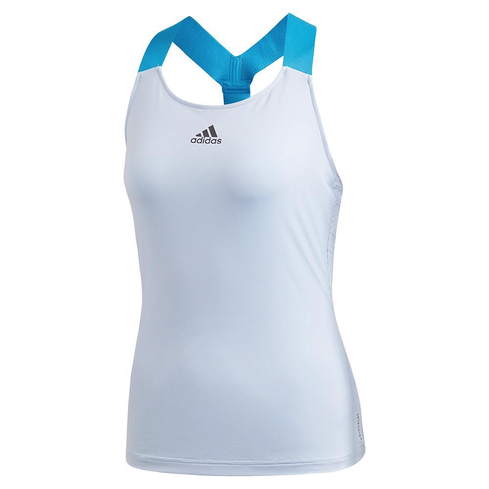 Women's Primeblue Y- Back Tennis Tank Easy Blue