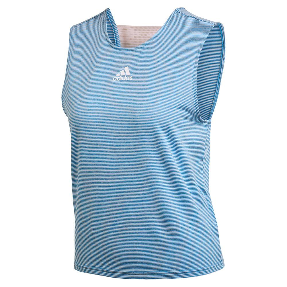 Women's Primeblue Camo Tennis Tank Easy Blue And White