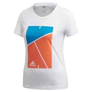 Women`s Club Court Tennis Tee White