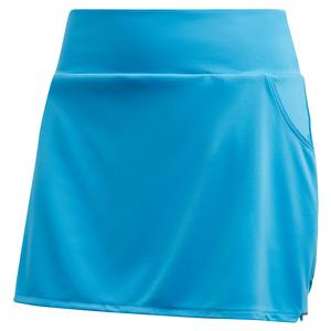 Women`s Club Tennis Skort Fresh Splash and Matte Silver