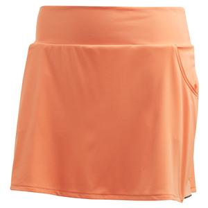 Women`s Club Tennis Skort Amber Tint and Matte Silver