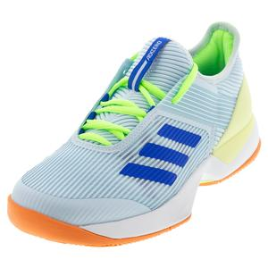 Women`s Adizero Ubersonic 3 Tennis Shoes Sky Tint and Glory Blue
