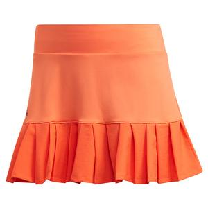 Women`s Primeblue 13 Inch Tennis Skort True Orange and Black