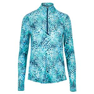 Women`s UV Mock Long Sleeve Tennis Top