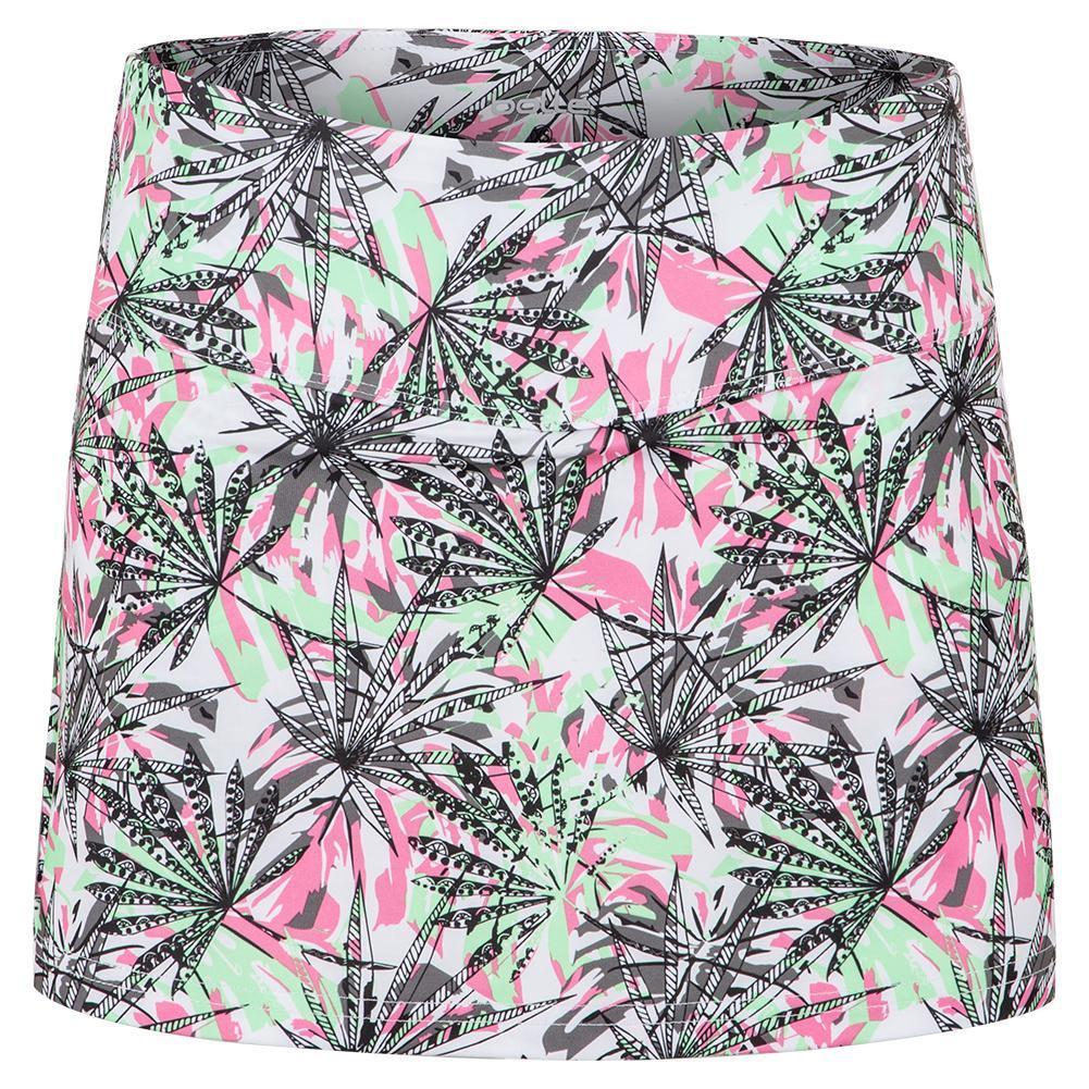 Women's Tropical Oasis Tennis Skort Print