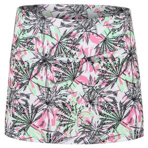 Women`s Tropical Oasis Tennis Skort Print
