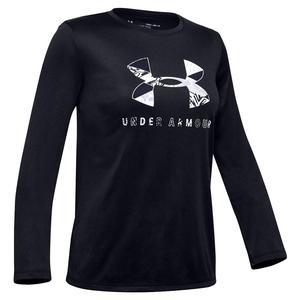 Girls` Tech Graphic Big Logo Long Sleeve T-Shirt