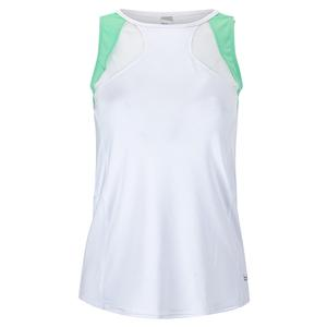 Women`s Tropical Oasis Tennis Tank White