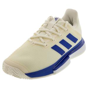 Men`s SoleMatch Bounce Tennis Shoes Off White and Team Royal Blue