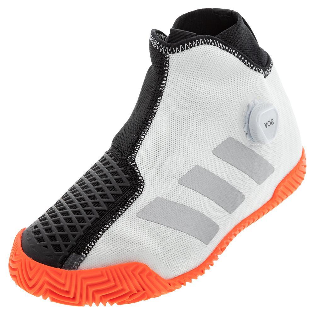 Men's Stycon Boa Tennis Shoes White And Silver Metallic