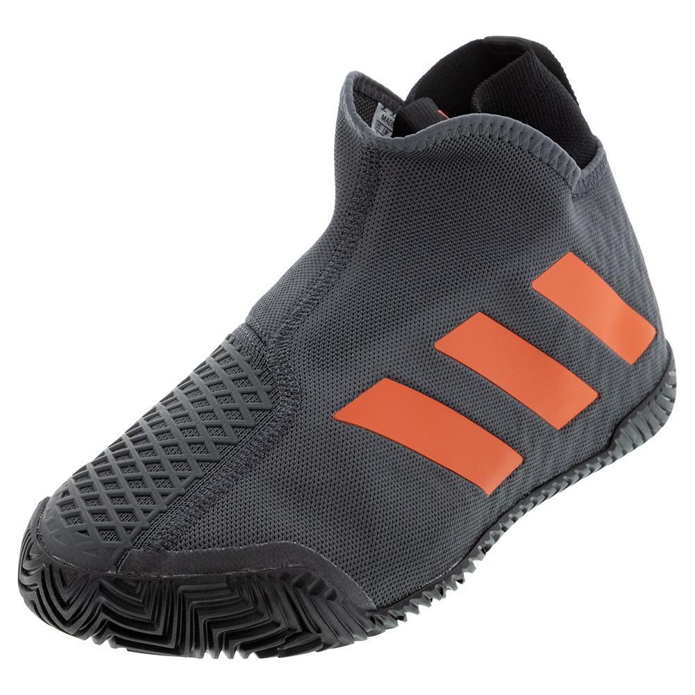 Men's Stycon Tennis Shoes Gray Six And True Orange