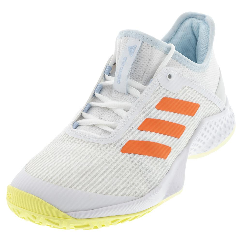 Women's Adizero Club 2 Tennis Shoes White And Amber Tint