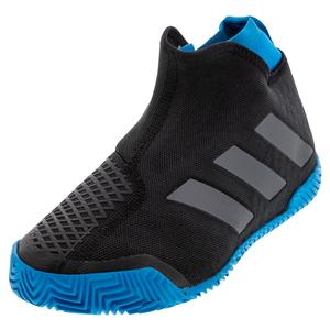Women`s Stycon Tennis Shoes Core Black and Sharp Blue