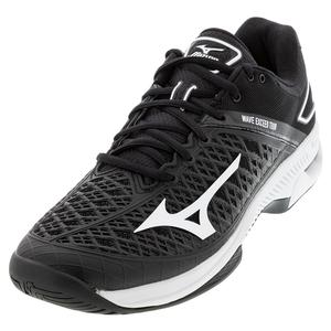 Men`s Wave Exceed Tour 4 AC Tennis Shoes Black and White