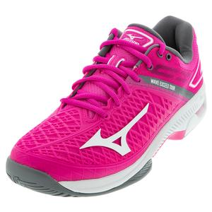 Women`s Wave Exceed Tour 4 AC Tennis Shoes Athena and White