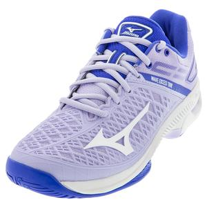 Women`s Wave Exceed Tour 4 AC Tennis Shoes Purple Heath and White