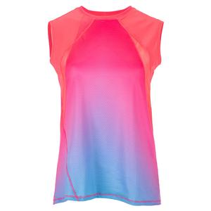 Women`s Sunset Stroll Tie Back Tennis Tank