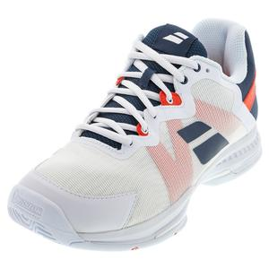 Men`s SFX 3 All Court Tennis Shoes White and Estate Blue
