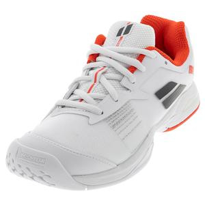 Juniors` Jet All Court Tennis Shoes White