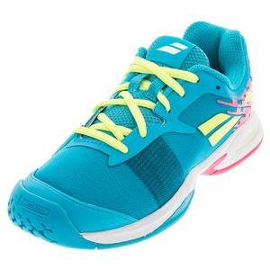 Juniors` Jet All Court Tennis Shoes Capri Breeze and Pink