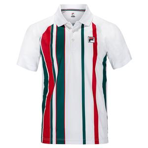 Men`s Legend Stripe Printed Tennis Polo