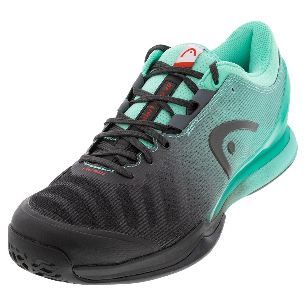 Men's Sprint Pro 3.0 Tennis Shoes Black And Teal