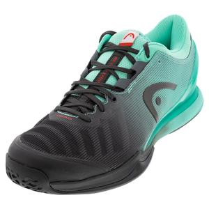 Men`s Sprint Pro 3.0 Tennis Shoes Black and Teal