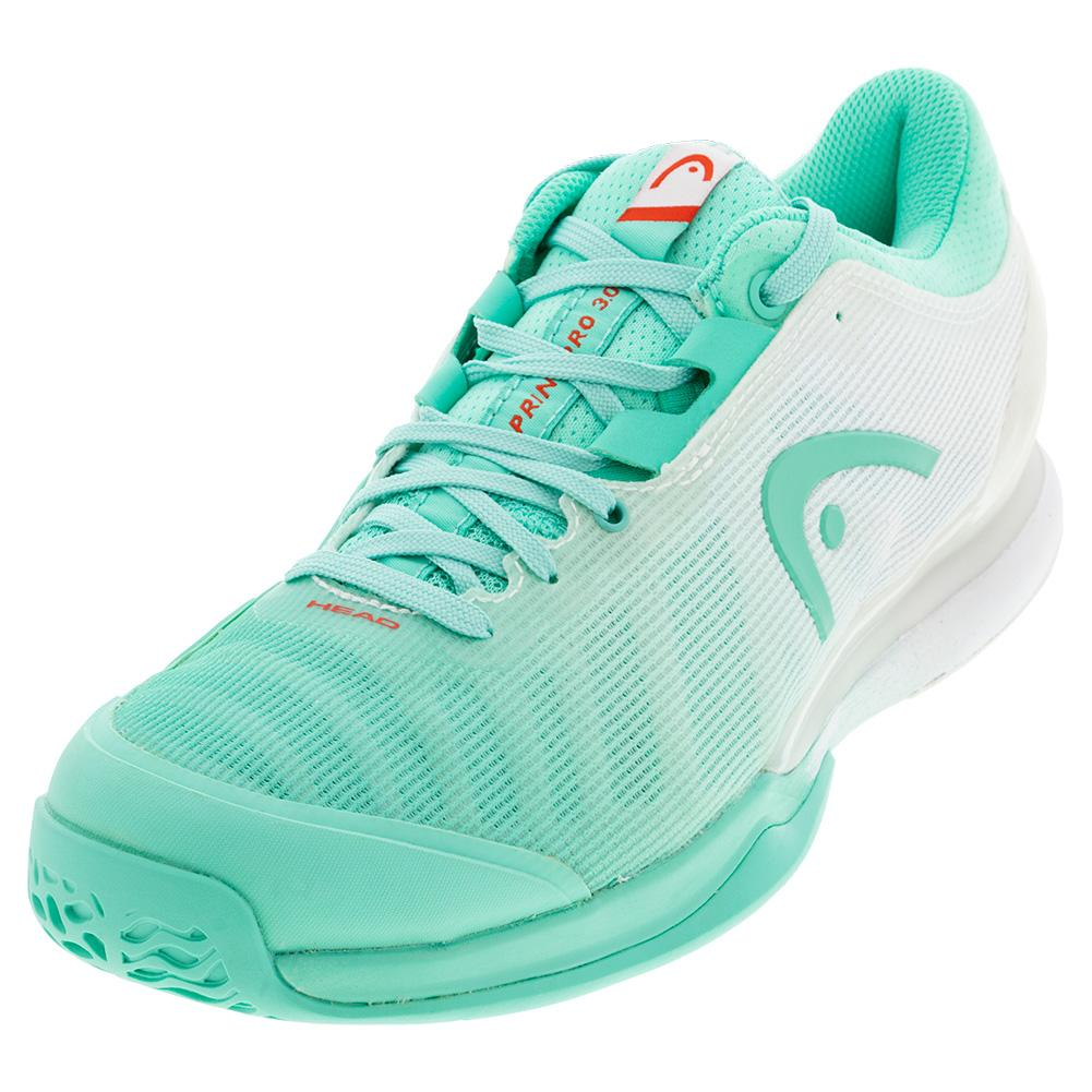 Women's Sprint Pro 3.0 Tennis Shoes Teal And White