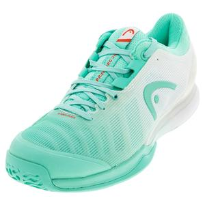 Women`s Sprint Pro 3.0 Tennis Shoes Teal and White