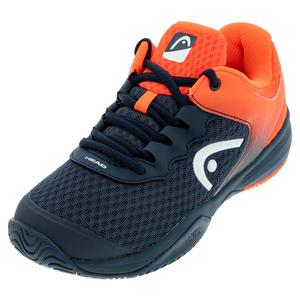 Juniors` Sprint 3.0 Tennis Shoes Midnight Navy and Neon Red