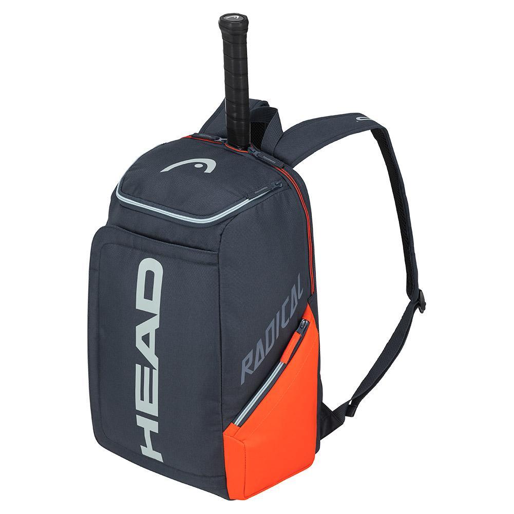 Radical Tennis Backpack Orange And Gray