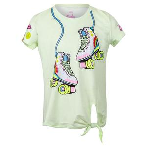 Girls` Print Tie Knot Tennis Top