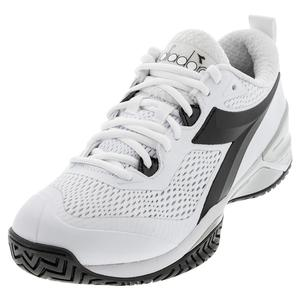 Women`s Speed Blushield 4 AG Tennis Shoes White and Black