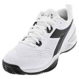 Women`s Speed Blushield 4 Clay Tennis Shoes White and Black