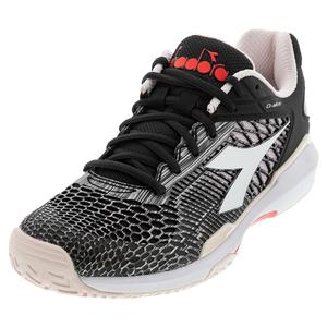 Women`s Speed Competition 5 Clay Tennis Shoes Black and Shrinking Violet
