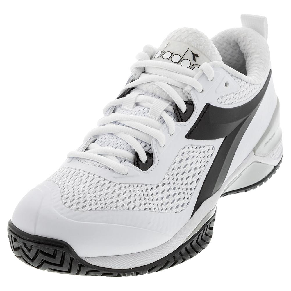Men's Speed Blushield 4 Clay Tennis Shoes White And Black