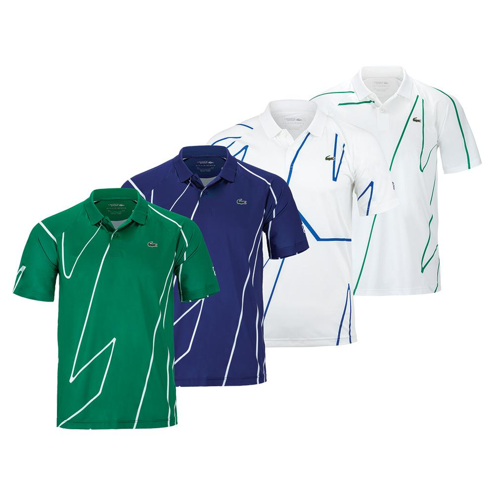 Lacoste Men S Novak Djokovic Ultra Dry Vertical Tennis Polo Tennis Express