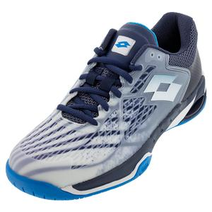 Men`s Mirage 100 Speed Tennis Shoes All White and Diva Blue