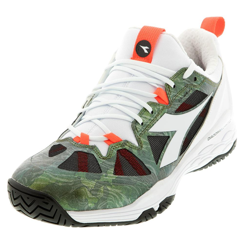 Men's Speed Blushield Fly 2 Ag Tennis Shoes White And Olivine