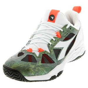 Men`s Speed Blushield Fly 2 AG Tennis Shoes White and Olivine