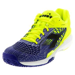 Men`s Speed Competition 5 AG Tennis Shoes Fluo Yellow DD and Royal